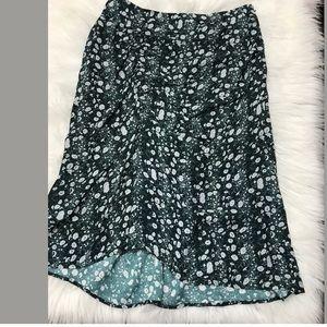 fdfc8075545 lewit Skirts - Lewit Clara Floral Green Ponderosa Print Skirt